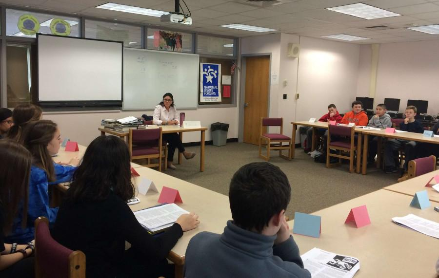 Mrs. Francis' 8th Graders Discuss Common Core and Immigration