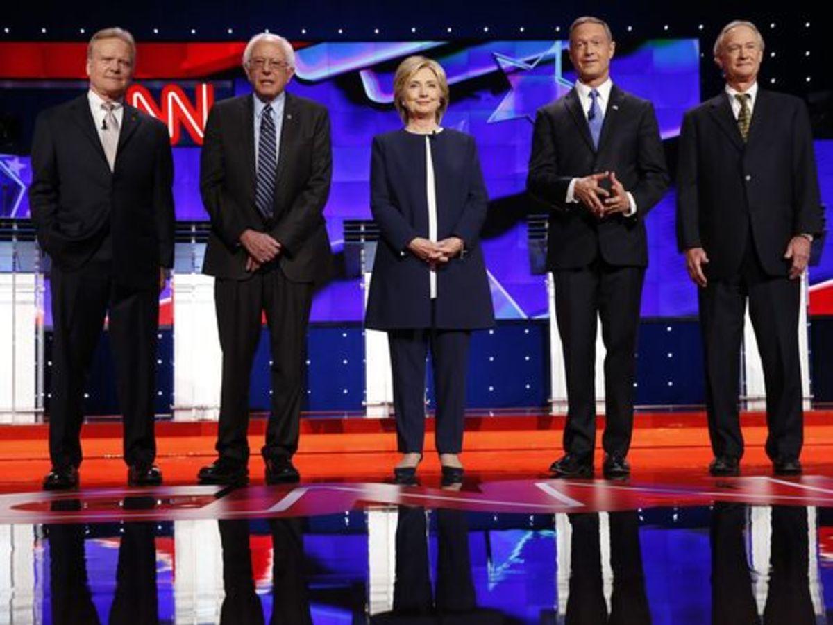 Democratic Presidential Hopefuls Kickoff First Debate In Las Vegas