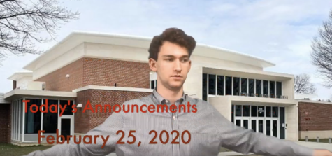 Daily Announcements for 2/26/2020
