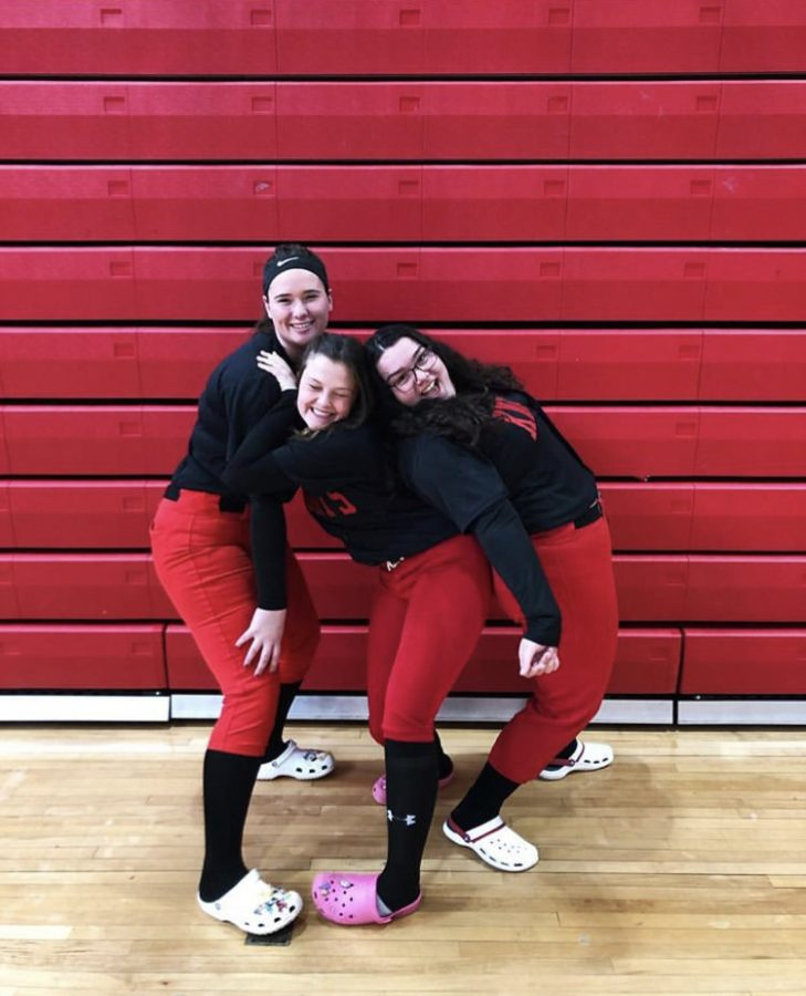 Seniors (Left) Kelly Marmorowski, (center) Olivia Hamerman, (right) Demi Cascio